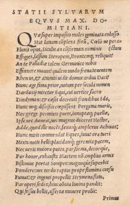 Sylwy 1,1 w Statii Papinii Neapolitani Opera, Basilea 1531