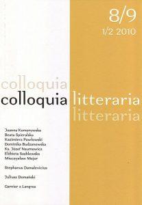 Collloquia Litteraria 8-9/2010