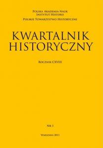 Kwartalnik Historyczny nr 1 (2011)