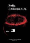 Folia Philosophica 29