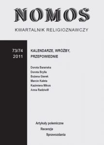 Kwartalnik Religioznawczy Nomos 73-74/2011