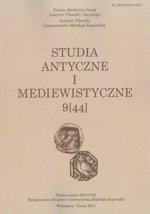 Studia Antyczne i Mediewistyczne 9(44)/2011