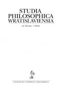 Studia Philosophica Wratislaviensia vol. VII, fasc. 1 (2012)