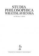 Studia Philosophica Wratislaviensia, vol. VII, fasc. 2 (2012)