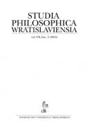 Studia Philosophica Wratislaviensia, vol. VII, fasc. 3 (2012)