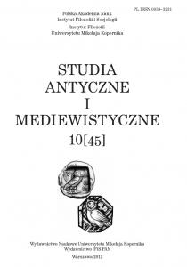 Studia antyczne i mediewistyczne 10 (45) / 2012
