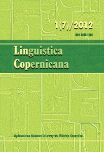 Linguistica Copernicana 1(7)/2012