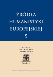 Źródła humanistyki europejskiej 5
