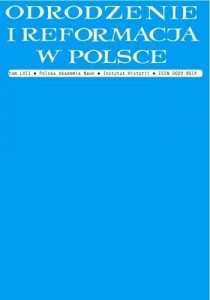Odrodzenie i Reformacja w Polsce 57/2013