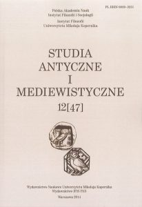Studia Antyczne i Mediewistyczne, 12(47)/2014