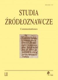 Studia Źródłoznawcze 52