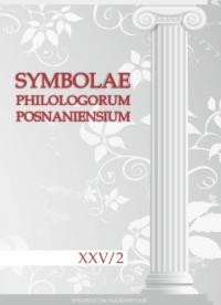 Symbolae Philologorum Posnaniensium XXV, z. 2