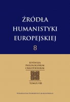 Źródła humanistyki europejskiej, t. 8