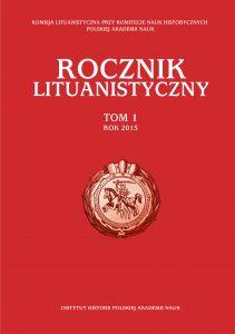 Rocznik Lituanistyczny 1/2015