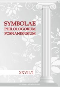 Symbolae Philologorum Posnaniensium XXVII/1