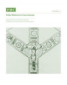 Folia Historica Cracoviensia XXIV 1 (2018)
