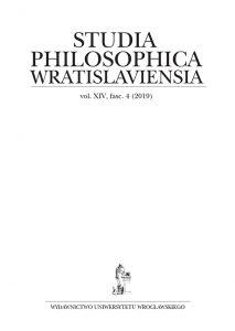Studia Philosophica Wratislaviensia XIV /4 (2019)