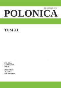 Polonica 40 (2020)