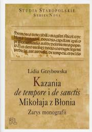 Lidia Grzybowska, Kazania de tempore i de sanctis Mikołaja z Błonia