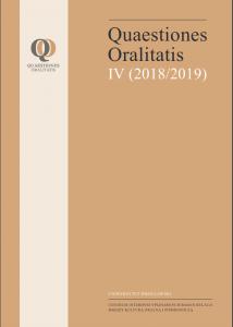 Quaestiones Oralitatis IV (2018/19)