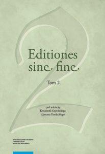 Editiones sine fine, t. II